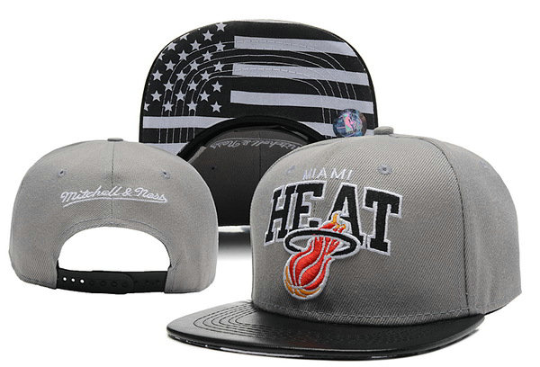 Miami Heat Grey Snapback Hat XDF 0613